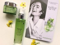LANCOME – Énergie de Vie – The Smoothing & Glow Boosting Liquid Care&The Overnight Recovery Sleeping Mask