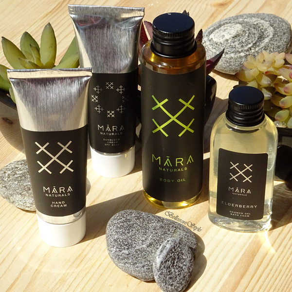 MARA Naturals – Elderberry – Shower gel, Sunblock Cream SPF30+, Hand Cream e Body Oil